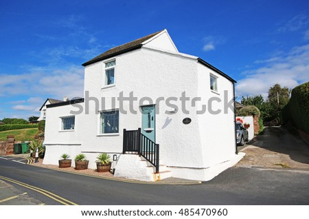 PARKGATE, WIRRAL - SEPTEMBER 18, 2016: House. Parkgate is a village on the Wirral Peninsula, situated on the coastline of the River Dee, adjoining 100 square kilometres of salt marsh.