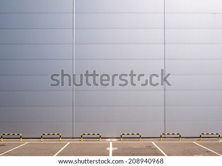 parking and wall - stock photo
