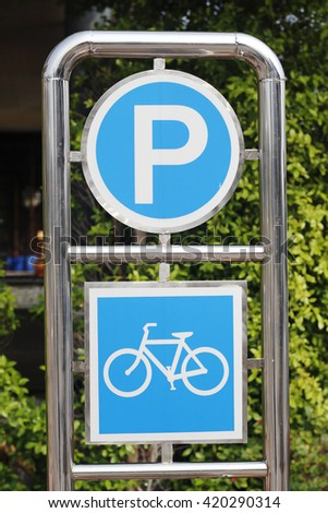 parking bicycle stainless sign