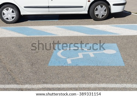 Parking for the disabled - stock photo