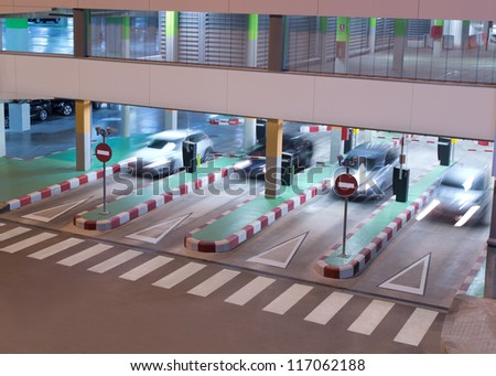 Parking Garage at the Airport - stock photo