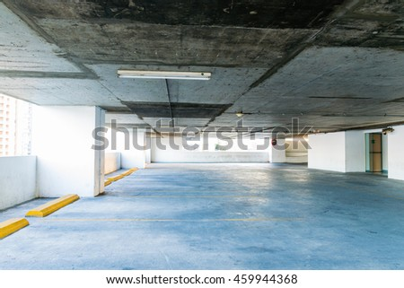 Parking lot for vintage tone background - stock photo