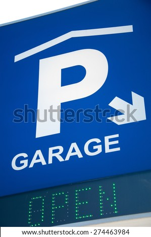 Parking lot sign. - stock photo