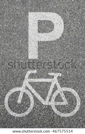 Parking lot sign bike bicycle park cycle traffic mobility city transport