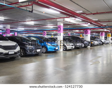 parking lot underground interior