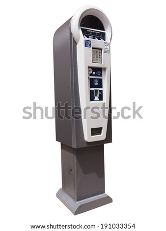 Parking meter ticket dispensing machine - stock photo