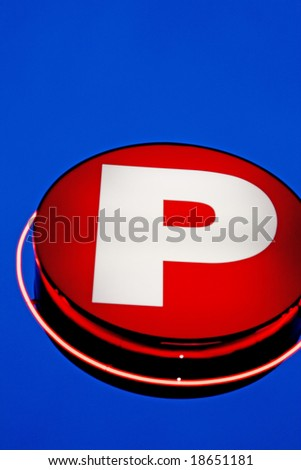 parking sign - stock photo