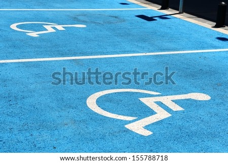 Parking sign for disabled