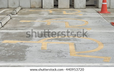 parking sign for disabled - stock photo