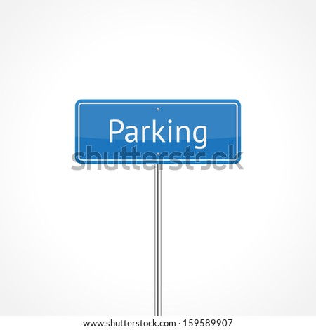 Parking sign isolated on white background (raster illustration)