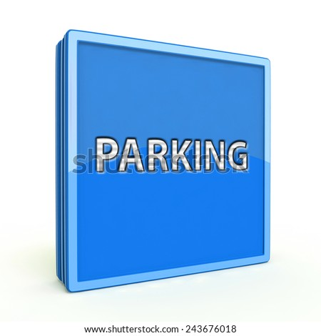 Parking square icon on white background