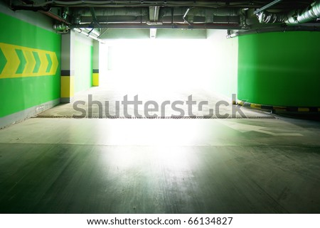 Parking under ground. Building construction. - stock photo