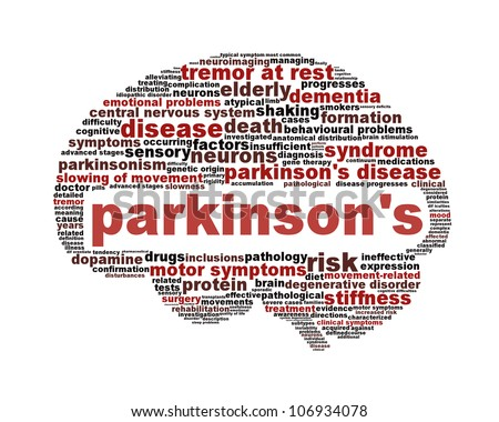 Parkinson's disease symbol isolated on white. Mental health symbol concept - stock photo