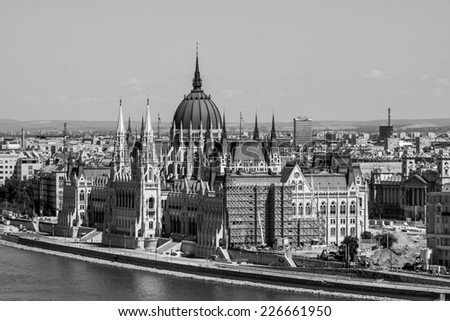Parliament, Budapest, Hungary - stock photo