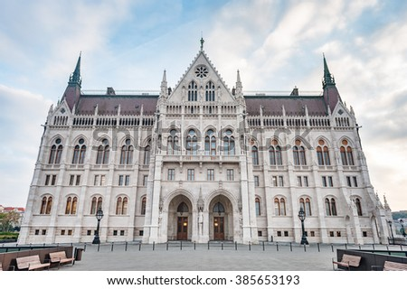 Parliament building in Budapest, Hungary,