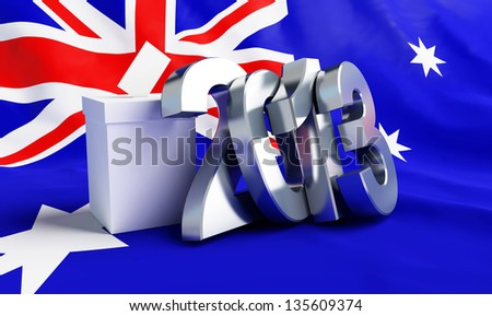 Parliamentary elections in Australia 2013 - stock photo
