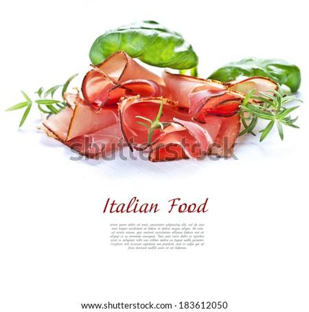 Parma ham.  - stock photo