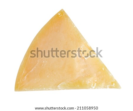 parmesan cheese isolated on white - stock photo