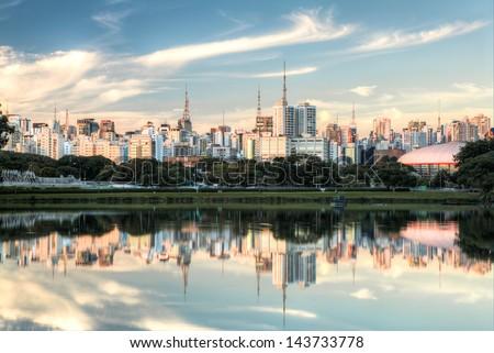 Parque Ibirapuera - Sao Paulo - Brazil - stock photo