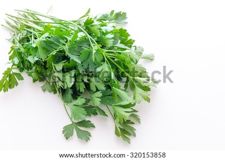 Parsley leaves biological