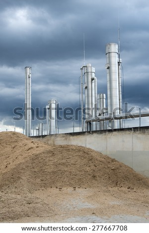 Part of a biogas plant  - stock photo