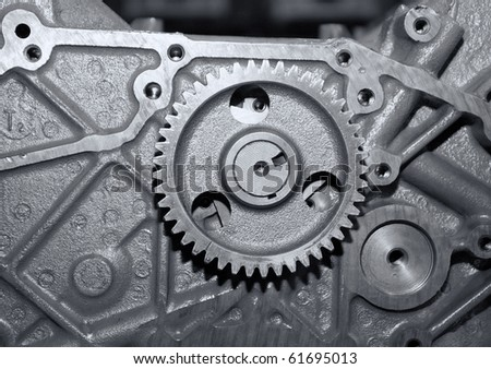 Part of a car engine.close up  mechanism - stock photo