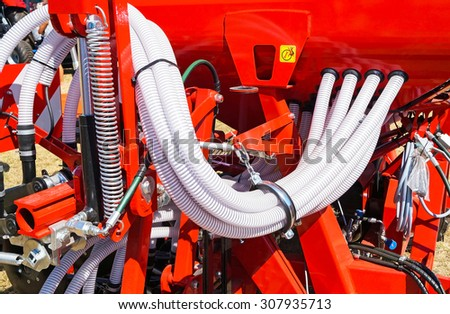 Part of a crop sprayer agricultural machinery