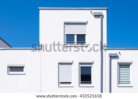 part of a modern plattenbau - stock photo