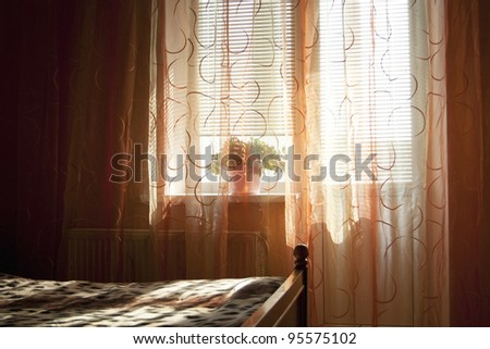Part of a sleeping room by the light of the morning sun