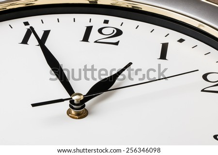 part of a wall clock - stock photo