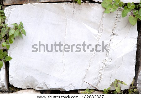 part of a wall of white marble stones as a background