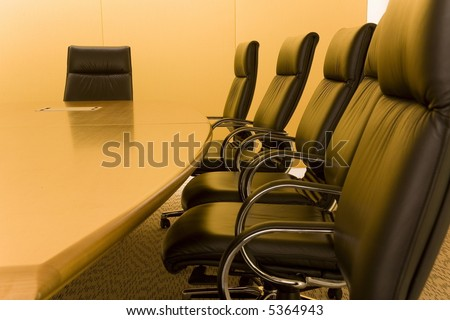 part of an interior of a meeting room