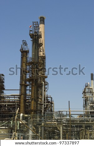 Part of an oil refinery complex