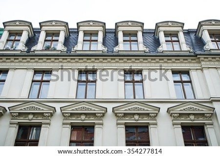 Part of an urban apartment building in Germany - stock photo