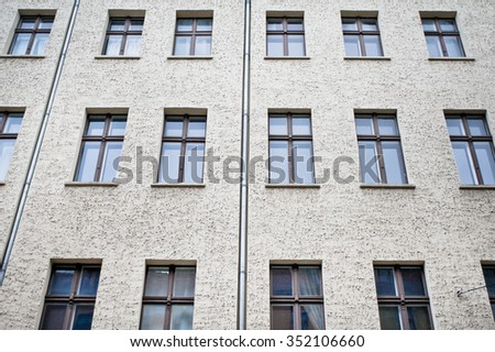 Part of an urban building in Berlin, Germany - stock photo