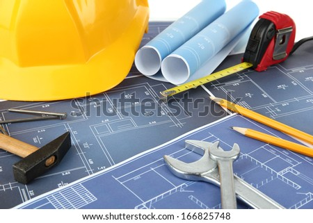 Part of architectural project - stock photo