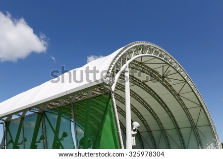 Part of architecture abstract of a plastic dome - stock photo