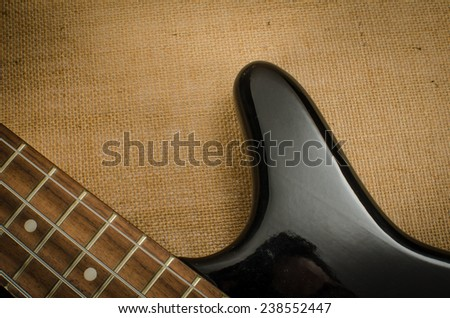 Part of black body electric bass