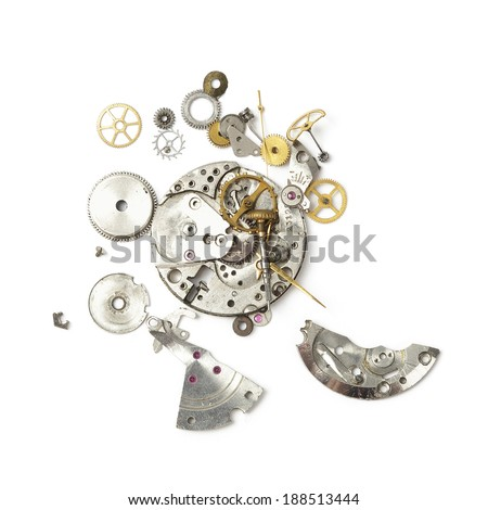 Part of broken watch - stock photo