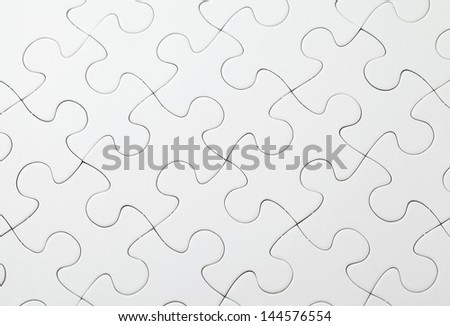 Part of completed white puzzle