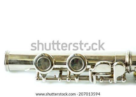 Part of Flute isolated on white background - stock photo