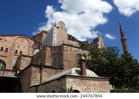 Part of Hagia Sophia in Istanbul, Turkey - stock photo