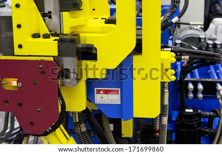 Part of heavy industry machine  - stock photo