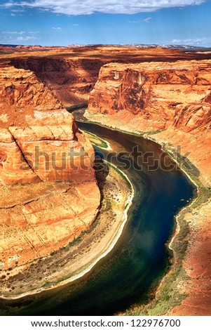 part of Horse Shoe Bend at Utah, USA - stock photo