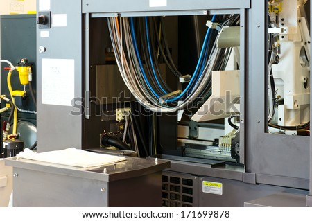Part of industrial equipment - stock photo