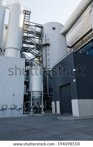 Part of industrial power plant or factory.