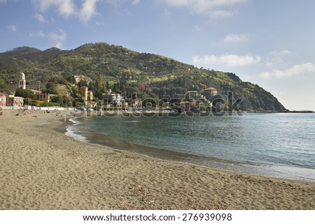 Part of Levanto territory is included in the Cinque Terre National Park. - stock photo