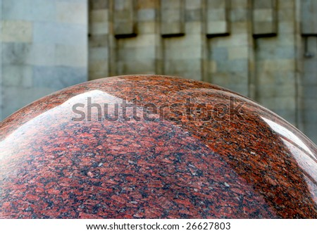part of marble sphere - stock photo