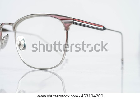 Part of men fashion eyeglasses