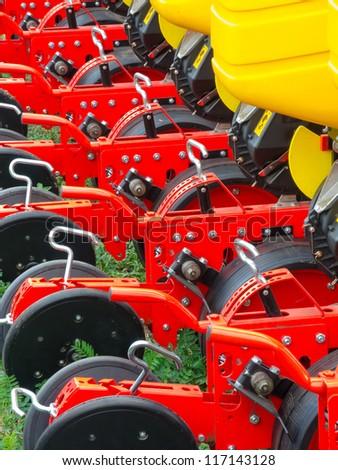 Part of new agronomic machine - stock photo